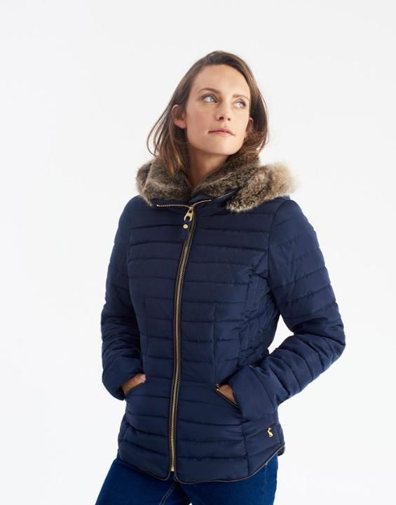 Joules Us Gosling Womens Padded Jacket Marine Navy My Joules