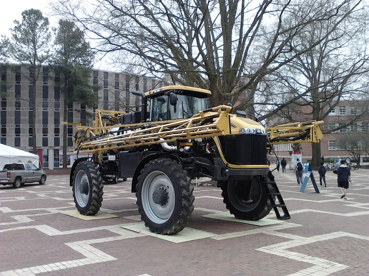 tractor in brickyard