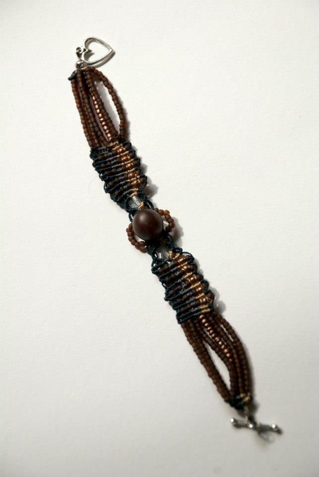 macrame knots and small beads bracelet.