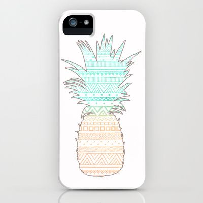 Tribal Pineapple  iPhone & iPod Case by Sunkissed Laughter - $35.00