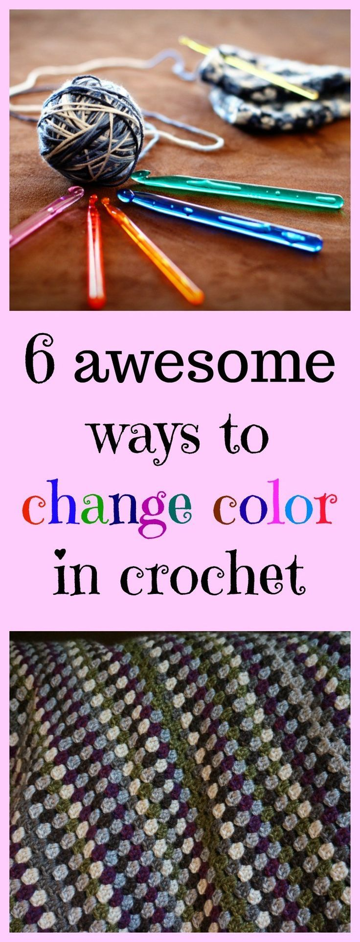 6 awesome ways to change color in crochet