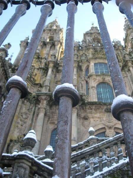 I will walk the camino to the cathedral in Santiago
