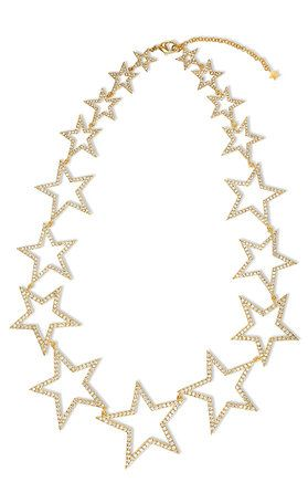 Gold Pave Star Statement Necklace