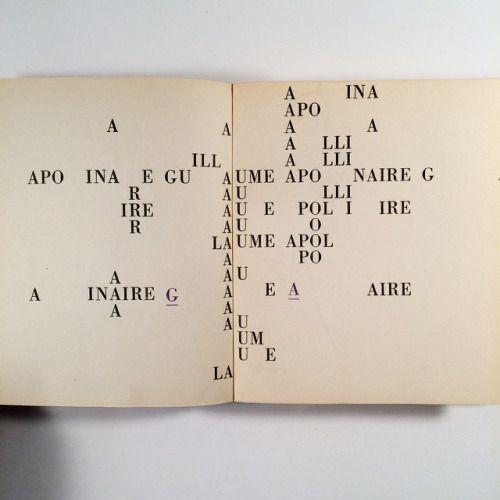 Básně obrazy, Guillaume Apollinaire, 1965. Designed by Oldřich Hlavsa