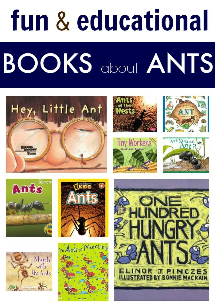 Great list of children's books about ants. Perfect for a preschool or kindergarten unit on insects!