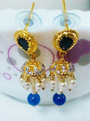 Indian Ethnic Bollywood Tradition Earring Jhumki Gold Tone Women Fashion Jewelry