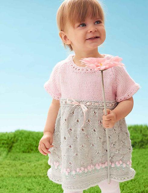 Ravelry: Cozy Posie Dress pattern by Bernat Design Studio