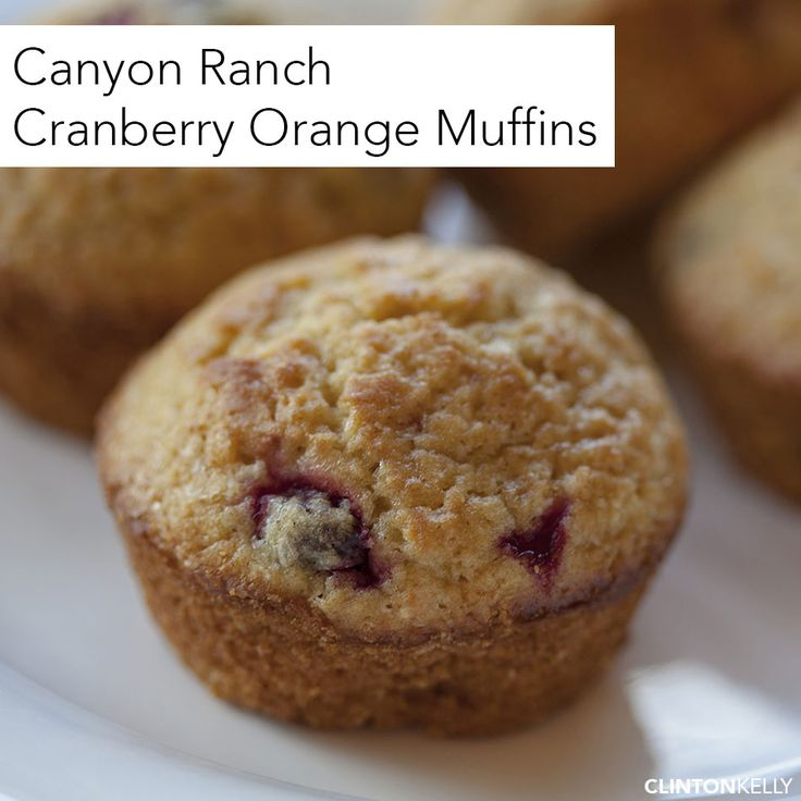 Some of my favorite muffins EVER, straight from the chef at Canyon Ranch in The Berkshires. Unlike most muffins that are packed with saturated fat and sugar, these Cranberry Orange Muffins are guilt-free!