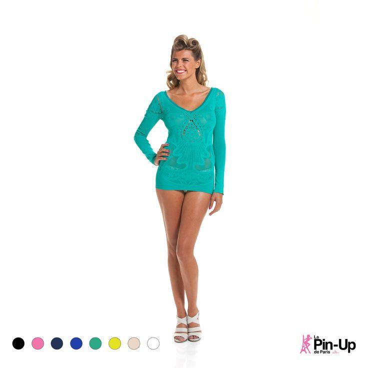 Damen T-Shirt Lace Long Sleeve | Oberteile | Damen | Pin-Up | Shapewear Outlet - Unterwäsche Dessous Anti-Cellulite Wear