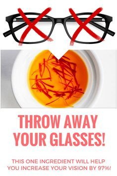 THROW AWAY YOUR GLASSES! THIS ONE INGREDIENT WILL HELP YOU INCREASE YOUR VISION BY 97%!