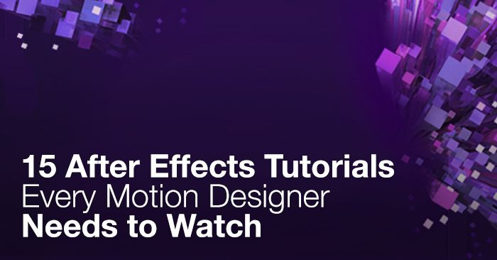 15 After Effects Tutorials Every Motion Designer Needs to Watch. Step up your motion graphics skills! Check out these 15 extremely insightful After Effects tutorials. From Premium Beat Blog.