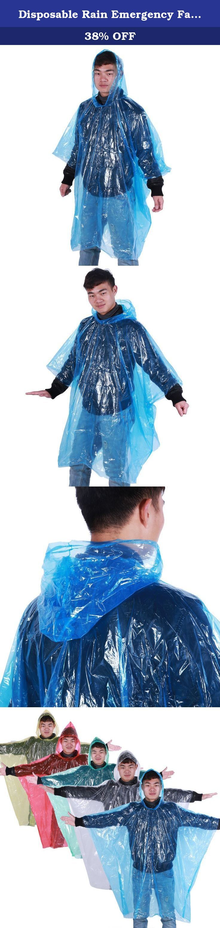 Disposable Rain Emergency Fashion Poncho for Adults - 20 Pack (Multi-Color) - Individually Wrapped. Keeps you protected on heavy rain days! Emergency Poncho, Emergency Rain Gear, Weather Protection. Lightweight ponchos, Compact easy storage, fits in you pocket or even in your wallet. Perfect for your emergency kit, camping, or any outdoor outing with family and friends. One size fit all.