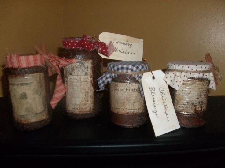 Primitive Christmas Craft Ideas Part - 39: Primitive Grungy Christmas Crafts | Primitive Christmas Grungy Jars.