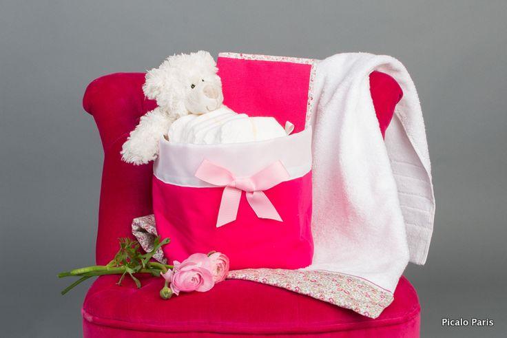 Un panier nursery très pratique pour déposer les couches de votre bébé, et de fabrication 100% française ! Un cadeau de naissance chic et original. www.picalo.fr