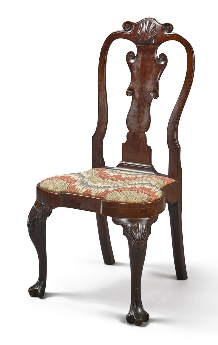 This israel sack american federal mahogany antique lolling arm chair - Very Rare Queen Anne Carved Mahogany Side Chair Philadelphia Circa 1750 Seat Marked