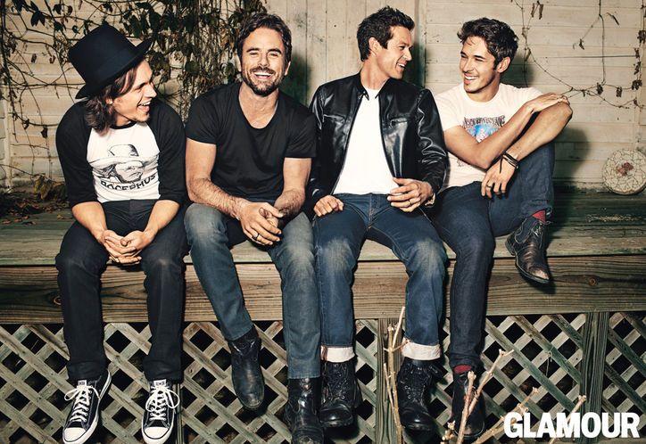 "ABC's ""Nashville"" men - Glamour shoot. From left to right: Jonathan Jackson, Charles Esten, Eric Close, Sam Palladio"