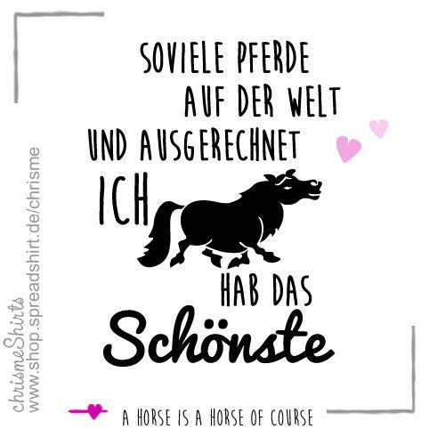 Soviele Pferde auf der Welt und ausgerechnet ich hab das Schönste! Frauenhoodie in verschiedenen Farben für mit diesem Spruch bei shop.spreadshirt.de/chrisme