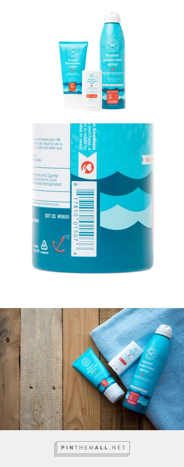 The Honest Company's Sunscreen Family  — The Dieline - Branding & Packaging - created via http://pinthemall.net