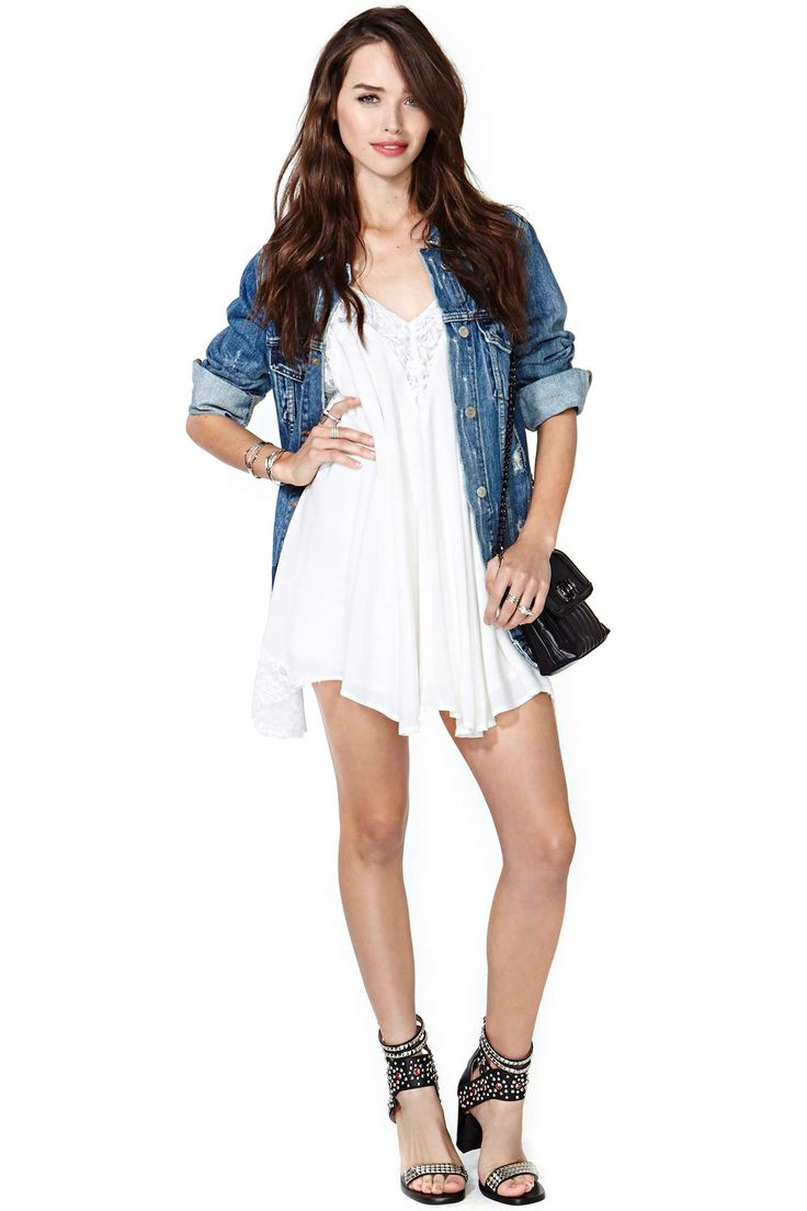 replace denim jacket with paradise printed top?? Sweet Stuff Dress | Shop Dresses at Nasty Gal