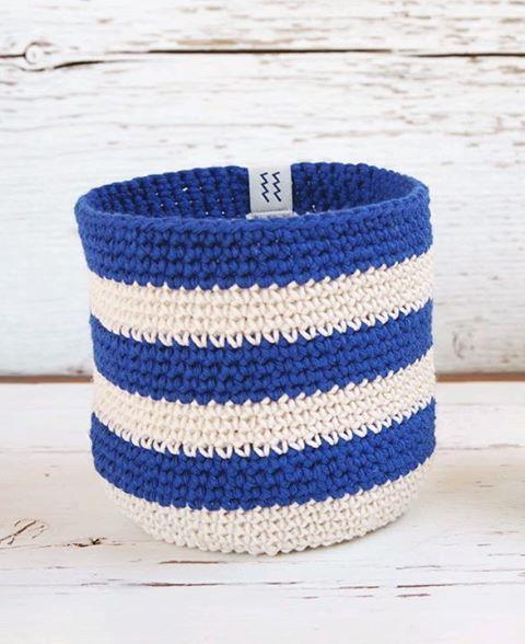 Handmade Cotton Crochet Basket Korb ~ Nordic Design Style ~ http://kymastyle.wordpress.com ~ Dawanda Shop: http://dawanda.com/shop/kymastyle