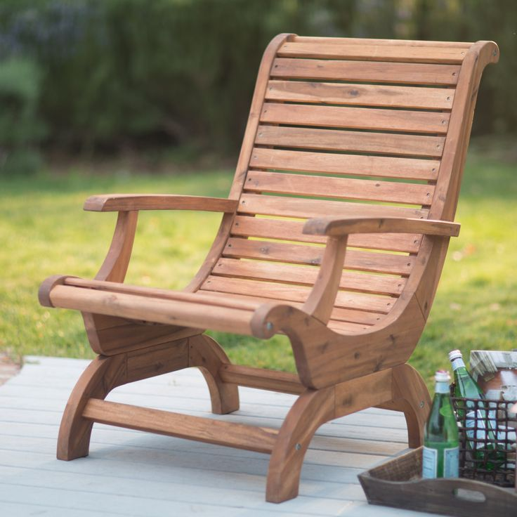 Belham Living Avondale Adirondack Chair   Natural | From Hayneedle.com.  Teak Adirondack ChairsOutdoor Lounge ...