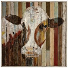 Belle of the Farm Cow Wall Art