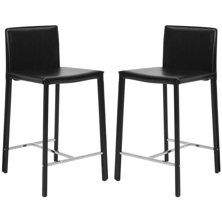 Safavieh Park Ave 25-inch Black Leather Counter Stools (Set of 2) |  sc 1 st  Pinterest & 25 best Kitchen Bar Stools images on Pinterest | Bar stools ... islam-shia.org