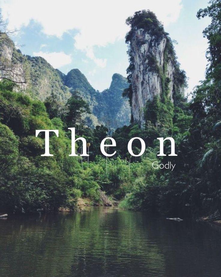 Theon, wat betekent: goddelijk, namen, Griekse namen, namen, T-namen, jongensnamen, namen die …