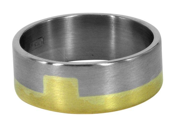 Long rectangular wedding ring