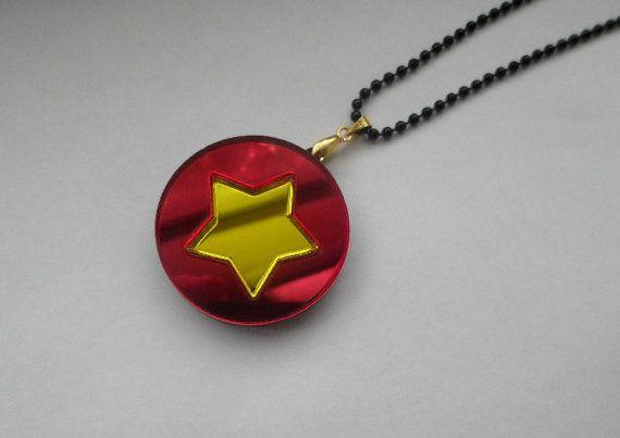 Steven's Shirt Steven Universe Necklace by Miyuka on Etsy