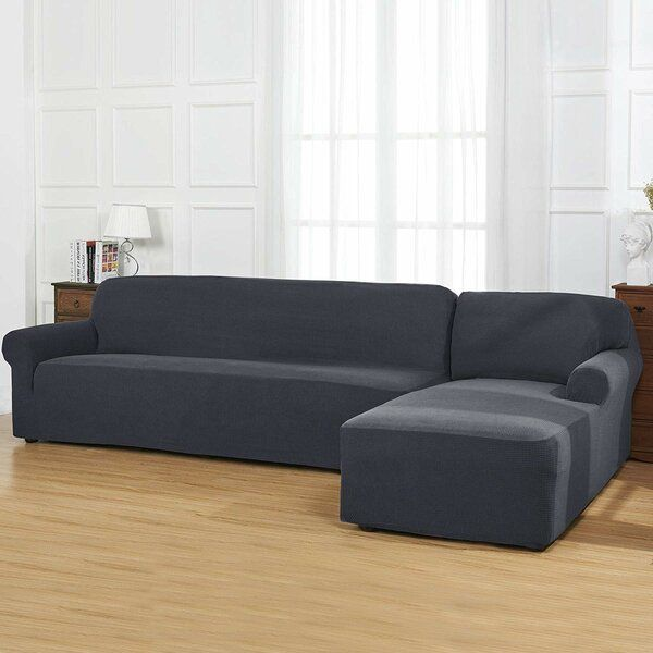 Bolee L Shaped Box Cushion Sofa And Chaise Lounge Slipcover Cushions On Sofa Chaise Lounge Slipcover Sectional Sofa Slipcovers