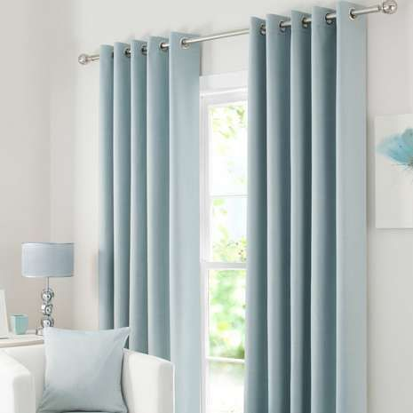 Featuring a duck egg blue tone with an eyelet header for ease of installation and a smooth motion, these ready made curtains are fully lined with blackout prope...