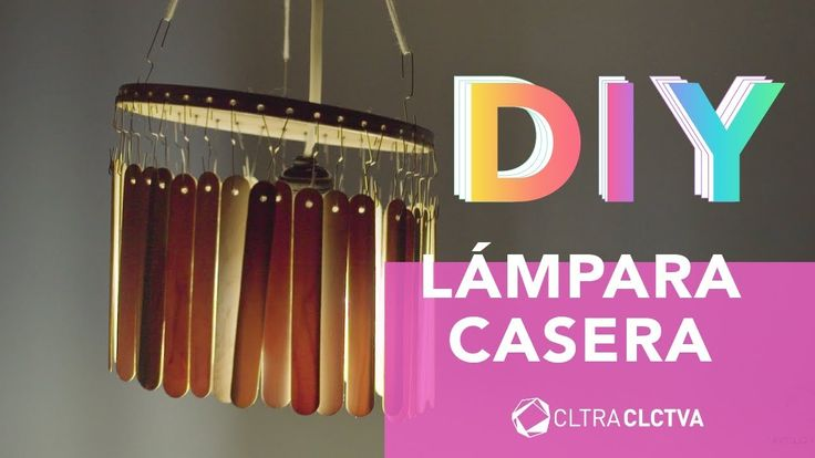 Lámpara casera con palitos de paleta | CC DIY