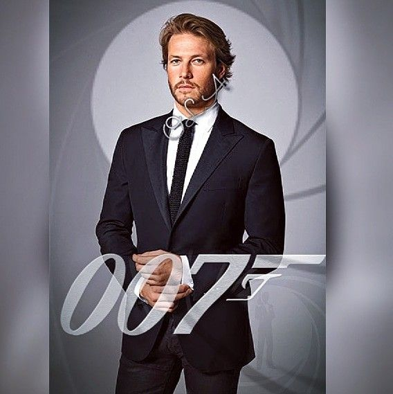 Luke Bracey Fan Art Fantasizing His Name Is Bond Jamesbond According To My Witty Man Travisfimmel Spreading Rumours About My Char Australianos Actores