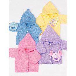 Baby's Hoodie in Bernat Baby Coordinates Solids