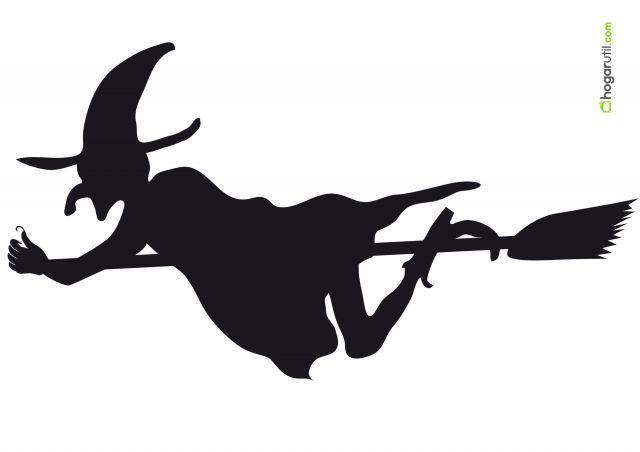 Siluetas de Halloween de bruja 4 en Decoración, Manualidades, Otros