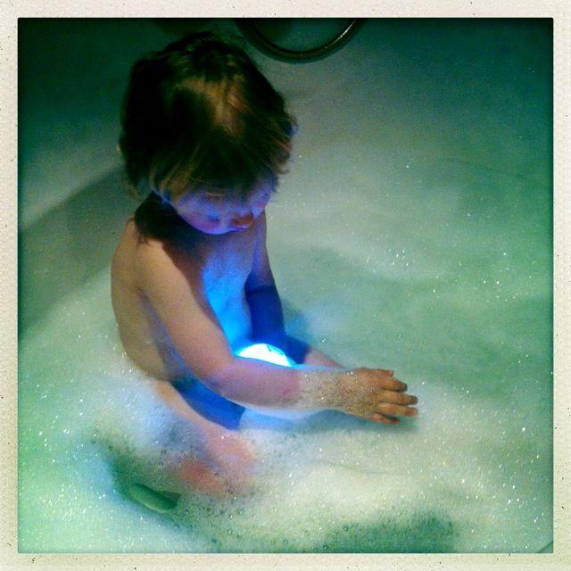 Bath with a robot