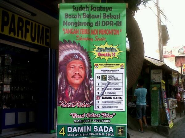 Indian Bekasi. Coblos berhadiah umroh.