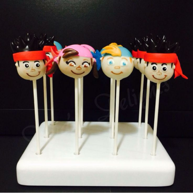 Jake & the Neverland Pirates Cake Pops by #DivasDelights #Jake&theNeverlandPirates #Jake&theNeverlandPiratescakepops #JakeandtheNeverlandPirates #JakeandtheNeverlandPiratescakepops #Jake #Izzy #Cubby #cakepops #cakepop #piratecakepops