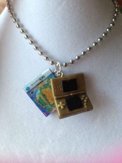 Nintendo DS and Game Necklace  -You Pick Any ds/3ds Game/color -
