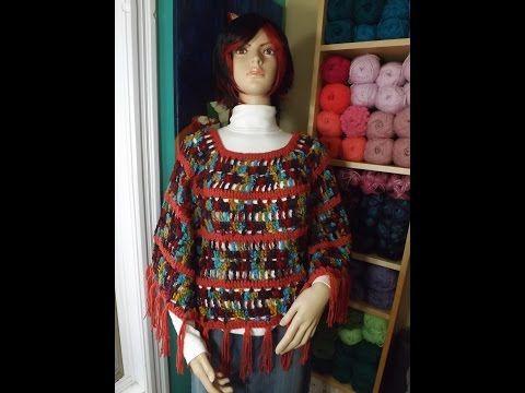 Crochet capa o poncho bien facil - Con Ruby Stedman - YouTube