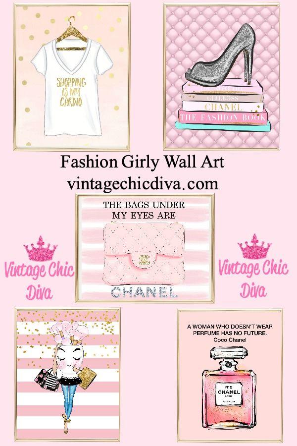 Fashion Girly Wall Prints 8 00 Girly Wall Art Fashion Wall Art Wall Prints
