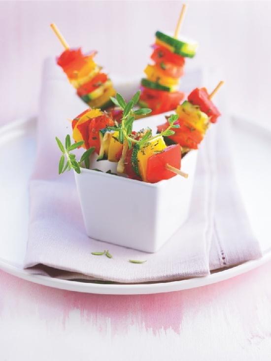 Mini #brochettes de #legumes confits que #Picard dédicace à celles qui veulent allier plaisir et forme.