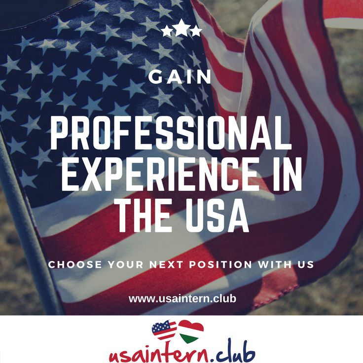 Advance your business career in the USA! For more information visit our website : www.usaintern.club