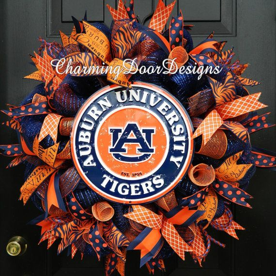 For my Auburn Friends...... Auburn University Deco Mesh by CharmingDoorDesigns, $76.00