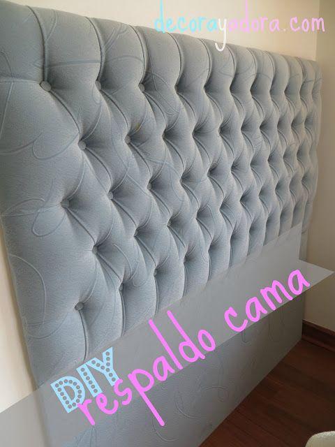 decora y adora: DIY respaldo tapizado cama/DIY upholstered hedboard...muy buen tutorial en español!!