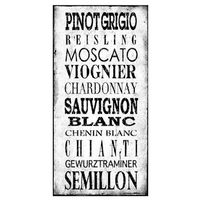 PTM White Wine Varietals Wall Décor