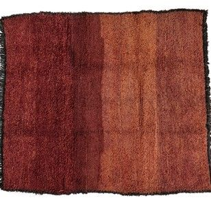 Moroccan bordeaux pink large Wool Rug late 20thCty - Decorative Collective