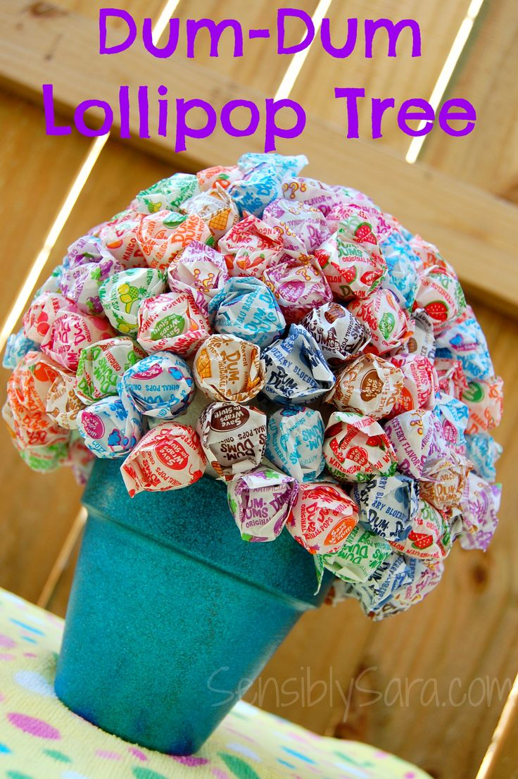 Back To School Diy Dum Dum Lollipop Tree Lollipop Tree