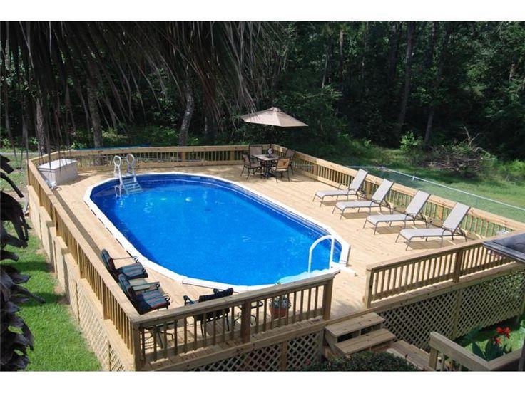 Above Ground Pool Photo Gallery Photo Gallery Backyard Oasis Livingston, TX 800-657-1283